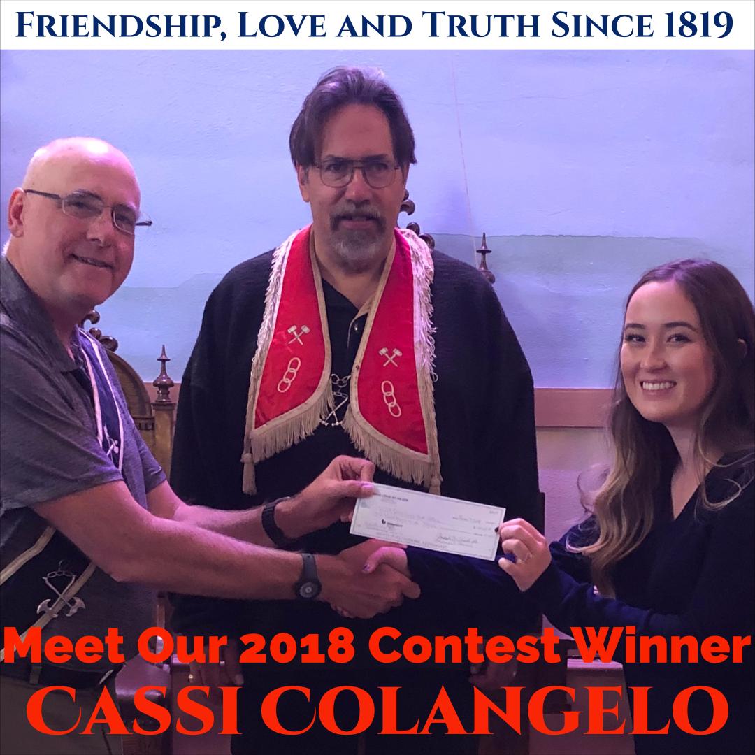 2018 Essay Contest Winner Cassi Colangelo 3