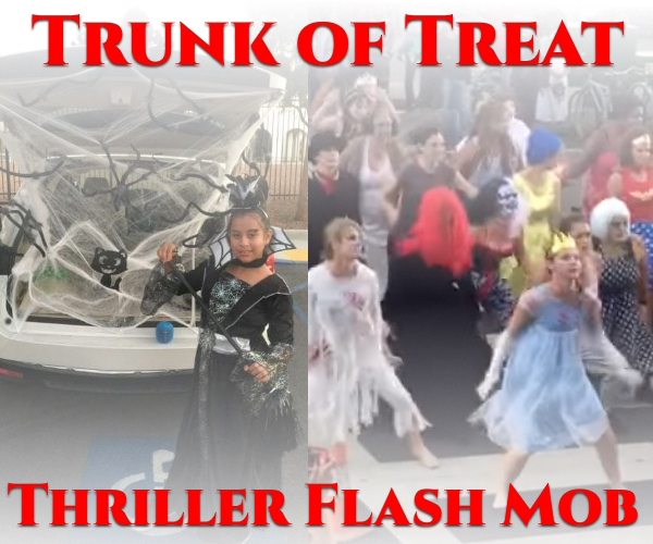 Trunk or Treat and Thriller Flash Mob 1