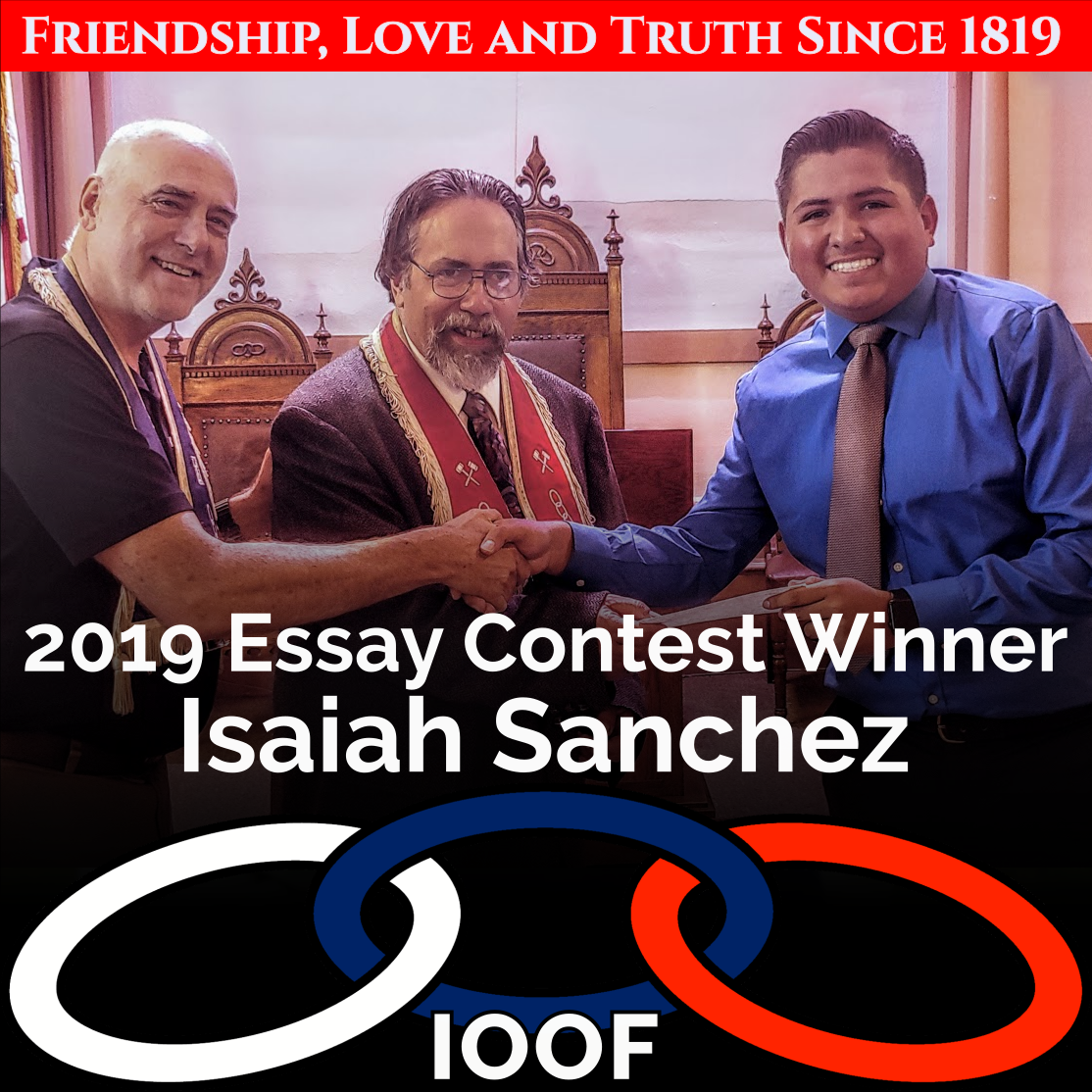 2019 Essay Contest Winner Isaiah Sanchez 1