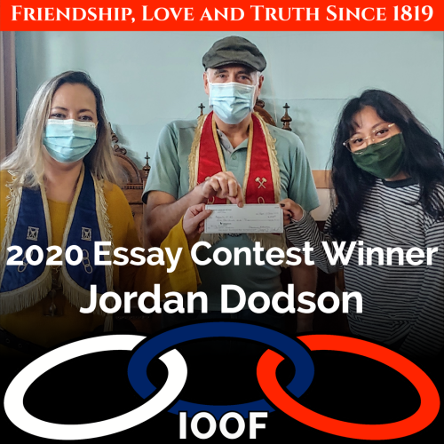 2020 Essay Contest Winner Jordan Dodson 1