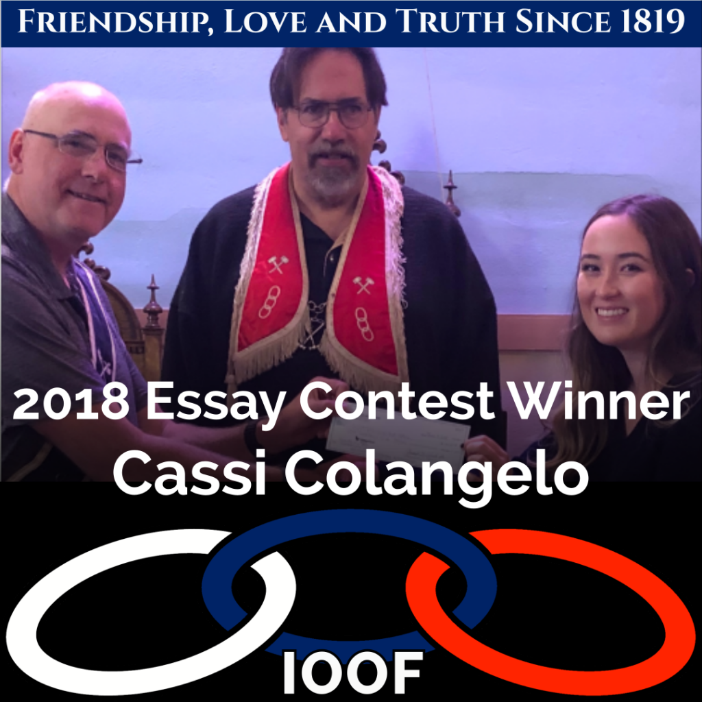 2021 Odd Fellows Essay Contest 9
